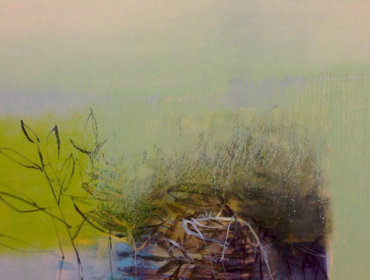 """Vorblühen"" · Acryl auf Leinwand · 160 cm x 120 cm"