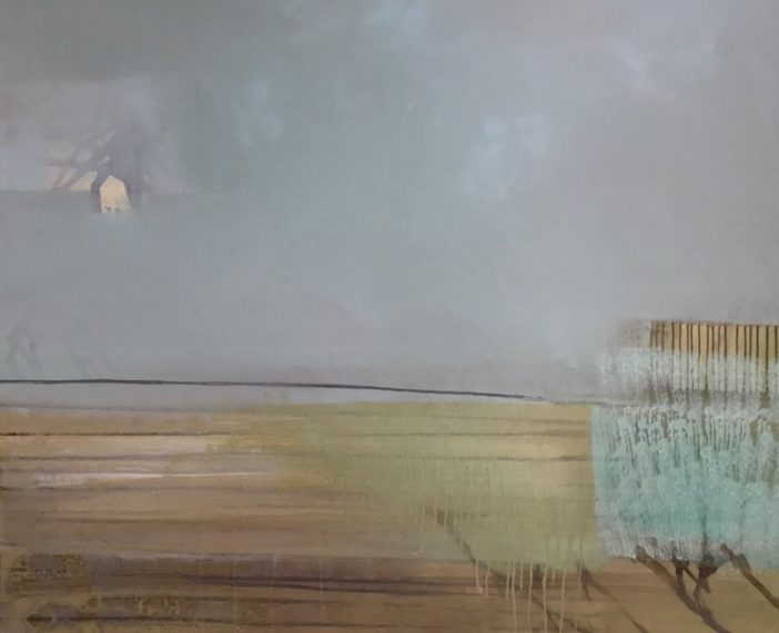 """Im Grün"" · Acryl auf Leinwand · 140 cm x 120 cm"