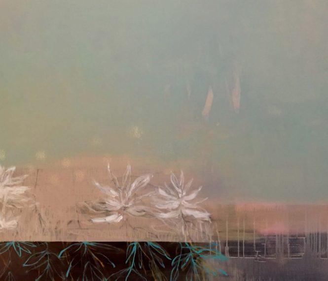 """""""Ahnung"""" · Acryl auf Leinwand · 140 cm x 120 cm"""